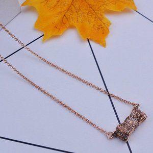 Kate Spade Brown Enamel Bow Necklace